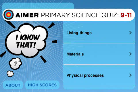 Primary Science 9 to 11: I Know That! Quiz for KS2 | Aimer Media
