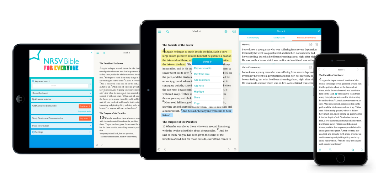 NRSV: Audio Bible for Everyone – Text and Audio Bible from SPCK